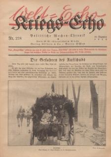 Kriegs-Echo: Wochen=Chronic, 20. Dezember 1918, Nr 228.