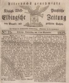 Elbingsche Zeitung, No. 75 Donnerstag, 17 September 1829