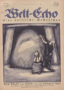 Welt Echo: Eine politische Wochenschau, 10. April 1919, Nr 15.