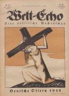 Welt Echo: Eine politische Wochenschau, 24. April 1919, Nr 17.