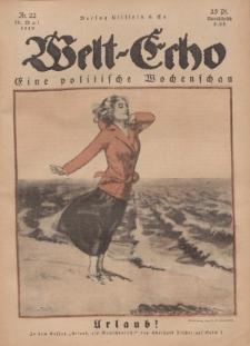 Welt Echo: Eine politische Wochenschau, 29. Mai 1919, Nr 22.