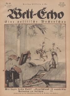 Welt Echo: Eine politische Wochenschau, 12. Juni 1919, Nr 24.