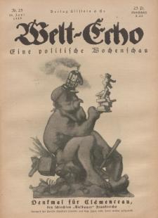 Welt Echo: Eine politische Wochenschau, 19. Juni 1919, Nr 25.