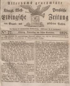 Elbingsche Zeitung, No. 77 Donnerstag, 24 September 1829