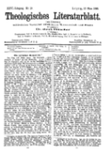Theologisches Literaturblatt, 10. März 1905, Nr 10.