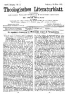 Theologisches Literaturblatt, 24. März 1905, Nr 12.