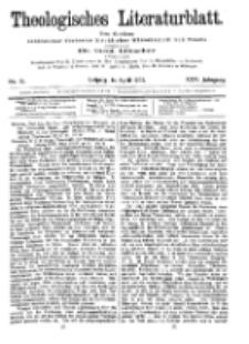 Theologisches Literaturblatt, 14. April 1905, Nr 15.