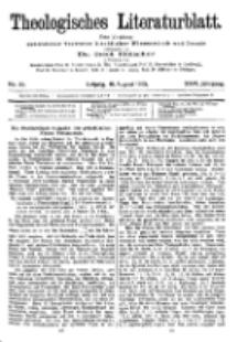 Theologisches Literaturblatt, 18. August 1905, Nr 33.