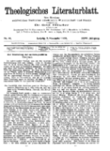 Theologisches Literaturblatt, 2. November 1906, Nr 44.