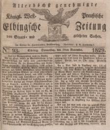 Elbingsche Zeitung, No. 93 Donnerstag, 19 November 1829