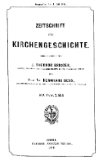 Zeitschrift für Kirchengeschichte, 1898, Bd. 19, H. 2.