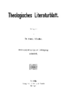 Theologisches Literaturblatt, 1907 (Inhaltsverzeichniß)