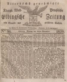 Elbingsche Zeitung, No. 96 Montag, 30 November 1829