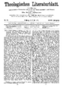 Theologisches Literaturblatt, 5. April 1907, Nr 14.