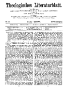 Theologisches Literaturblatt, 5. Juli 1907, Nr 27.