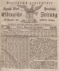 Elbingsche Zeitung, No. 98 Montag, 7 Dezember 1829