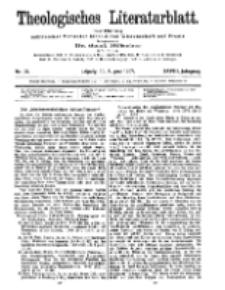 Theologisches Literaturblatt, 30. August 1907, Nr 35.
