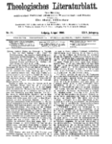 Theologisches Literaturblatt, 3. April 1908, Nr 14.