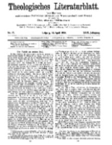 Theologisches Literaturblatt, 24. April 1908, Nr 17.