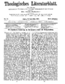 Theologisches Literaturblatt, 11. September 1908, Nr 37.