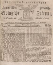 Elbingsche Zeitung, No. 104 Montag, 28 Dezember 1829