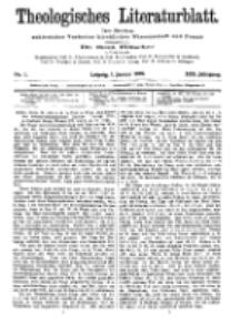 Theologisches Literaturblatt, 1. Januar 1909, Nr 1.