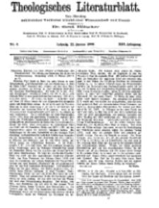 Theologisches Literaturblatt, 22. Januar 1909, Nr 4.