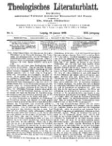 Theologisches Literaturblatt, 29. Januar 1909, Nr 5.