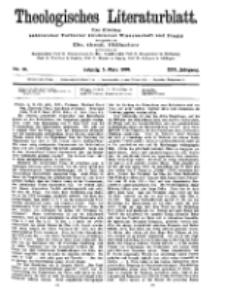 Theologisches Literaturblatt, 5. März 1909, Nr 10.