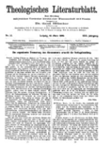 Theologisches Literaturblatt, 19. März 1909, Nr 12.