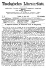 Theologisches Literaturblatt, 26. März 1909, Nr 13.