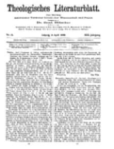 Theologisches Literaturblatt, 9. April 1909, Nr 15.