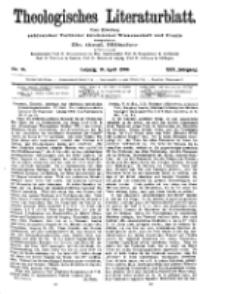 Theologisches Literaturblatt, 16. April 1909, Nr 16.