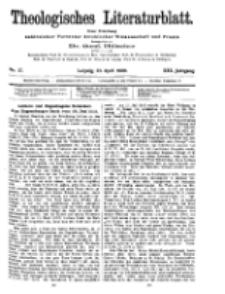 Theologisches Literaturblatt, 23. April 1909, Nr 17.