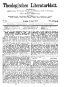 Theologisches Literaturblatt, 30. April 1909, Nr 18.