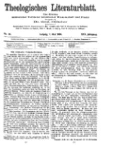 Theologisches Literaturblatt, 7. Mai 1909, Nr 19.