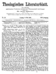 Theologisches Literaturblatt, 14. Mai 1909, Nr 20.