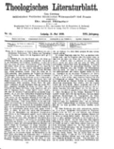 Theologisches Literaturblatt, 21. Mai 1909, Nr 21.
