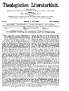 Theologisches Literaturblatt, 18. Juni 1909, Nr 25.