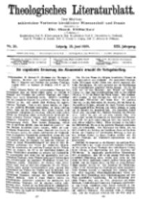 Theologisches Literaturblatt, 25. Juni 1909, Nr 26.