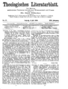 Theologisches Literaturblatt, 2. Juli 1909, Nr 27.