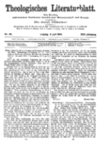 Theologisches Literaturblatt, 9. Juli 1909, Nr 28.