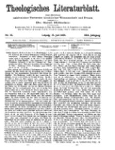 Theologisches Literaturblatt, 23. Juli 1909, Nr 30.