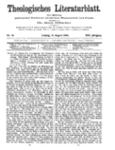 Theologisches Literaturblatt, 13. August 1909, Nr 33.