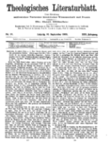 Theologisches Literaturblatt, 10. September 1909, Nr 37.