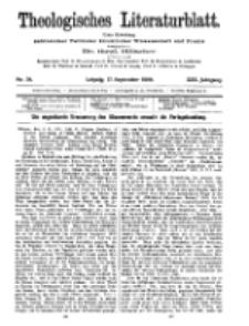 Theologisches Literaturblatt, 17. September 1909, Nr 38.