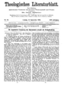 Theologisches Literaturblatt, 24. September 1909, Nr 39.