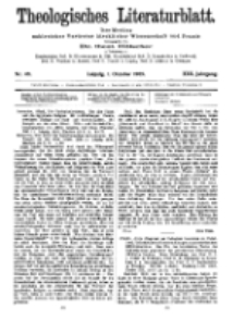 Theologisches Literaturblatt, 1. Oktober 1909, Nr 40.
