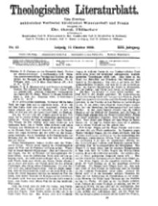 Theologisches Literaturblatt, 15. Oktober 1909, Nr 42.