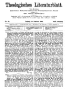 Theologisches Literaturblatt, 22. Oktober 1909, Nr 43.
